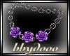 Purple Roses Necklace