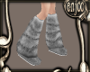 {e}grey fur boots