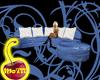 Blue Oriental Silk Couch