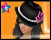 *Glam Blck/pink hat*