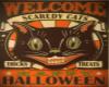Retro Scary Cat Art