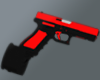 Red Glock-18 Ext.Mag