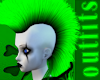 Green Rave Mohawk Hair