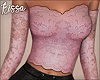 ! Pink Sparkle Lace Top