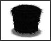 Black Fuzzy Stool