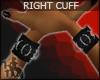 +KM+ PVC Cuff Blk RIGHT