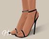 H. Strap Heels Black