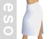 White Slit Skirt