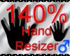 *M* Hand Scaler 140%