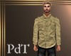 PdT Tan Linen Shirt M