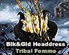 Blk&Gld HeadDress Tribal