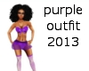 purple outfit 2013