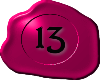 13 Pink with Black 13