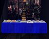 Blue party table -KS