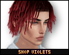 V| Dreads Red Ombre
