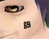 Hisagi's 69 Face Tattoo