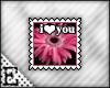 [E] I <3 You Stamp