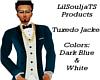 Tuxedo Top DBlue & White