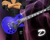 Blue LP guitar