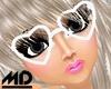 *MD* Love White Glasses
