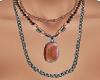 TF* Stone Beads Necklace