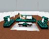 {LM}green hair sofa set