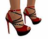 Heels Red Black