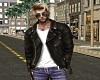Worn Leather Jacket -M-