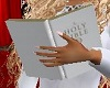 WHITE BIBLE HANDHELD