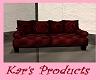 Red Cuddle Sofa