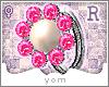 Y{ Pearl Diamond Ring R}