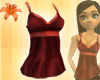 Long Silk Cami Wine