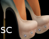 *SC* Tan Summer Pumps