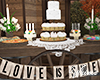 Barn Wedding Cake Table