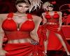 Elegant Royal Red Gown