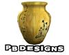PB Golden Oriental Vase