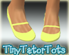 Kids Yellow Strap Flats