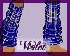 (V) blue/gold legwarmers