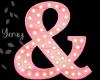 Pink Wood Letter sign &