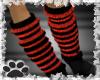 ~Red striped legwarmers~