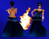 (DD) Diamond gown blue