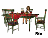 greenery table set