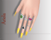 A! Kylie yellow nail