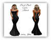 Laced Back Gown Black