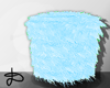 ♚ Fur stool blue