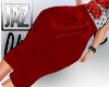 [JAZ] Red Rouche Skirt