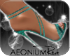 ! 1121 Bloom Heel Aqua H