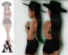 Hat Hair Black Long