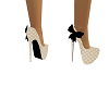 Tan/Bla  Bow Heels