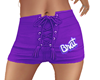 brat shorts purple